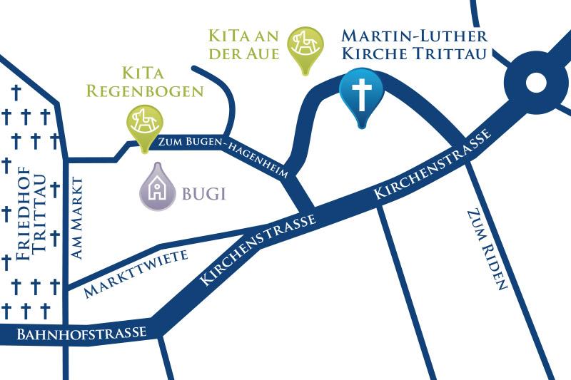 Lageplan Kirchengemeinde - Copyright: Toni Endres