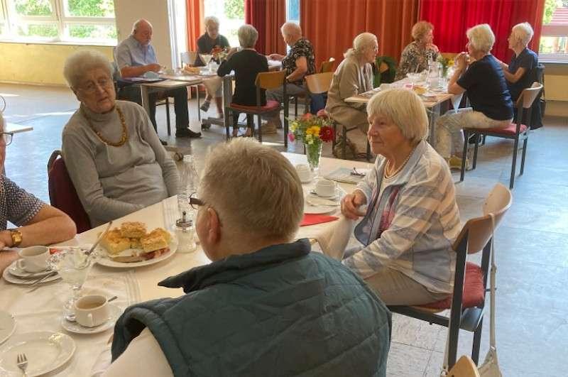 Seniorennachmittag 3.9.21; Foto: Gertrud Stahmer